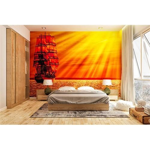Iwall Resimli Akşam Güneşi Duvar Kağıdı 370X250