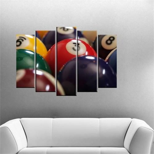 Canvastablom B25 Bilardo Topları Parçalı Canvas Tablo