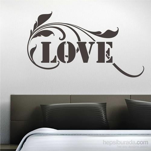 I Love My Wall Floral (F-061)Sticker(Baykuş Sticker Hediye!)