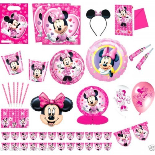 Partişöleni Minnie Mouse Doğum Günü Parti Seti 20 Kişilik Seti