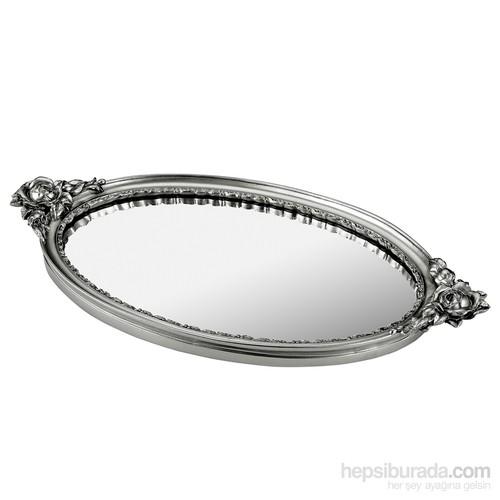Noble Life Rose Aynalı Tepsi - Gümüş