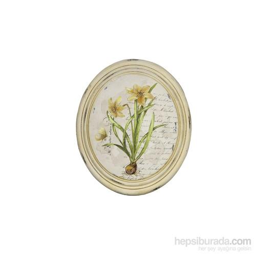Noble Life Sarı Kök Çiçek Oval Tablo