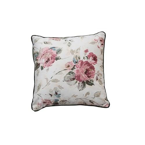 Merlina Home Çiçek Desenli Kadife Yastık