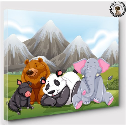 Artredgallery 50X70 Ormanda Sevimli Hayvanlar