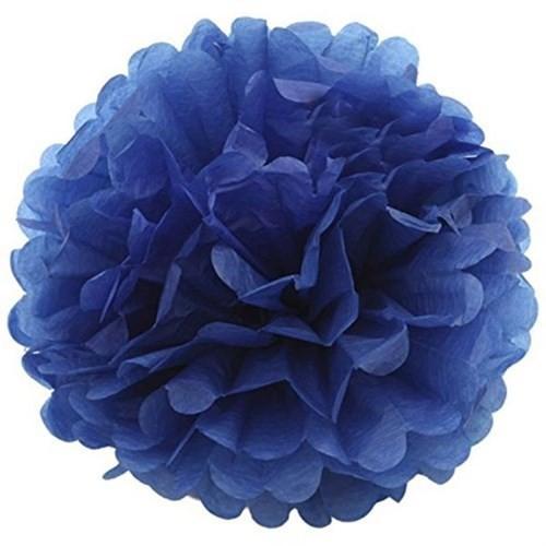 Pandoli 1 Adet Lacivert Renk Pelur Kağıt Ponpon Çiçek 25 Cm Asma Süs