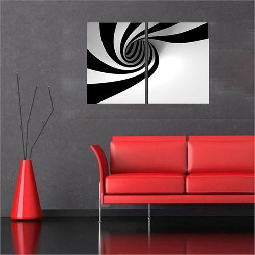 Canvastablom İ497 Siyah Beyaz Parçalı Tablo