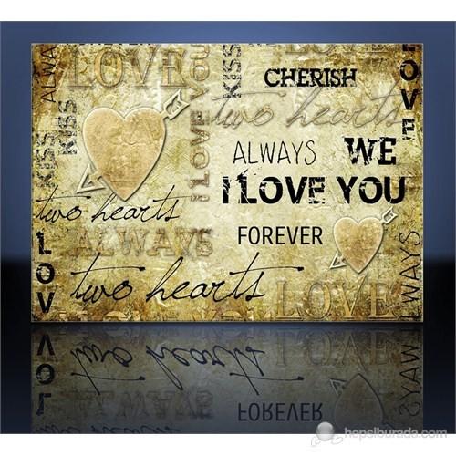 I Love You Kanvas Tablo