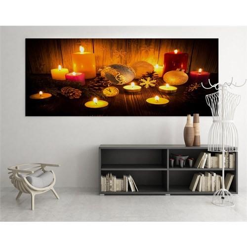 Dekoratif Market Led Işıklı Kanvas Tablo 60X120 Cm