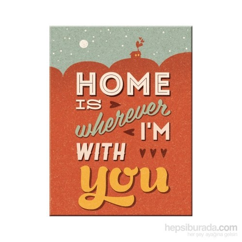 Home is Wherever I am with You Magnet 6x8 cm