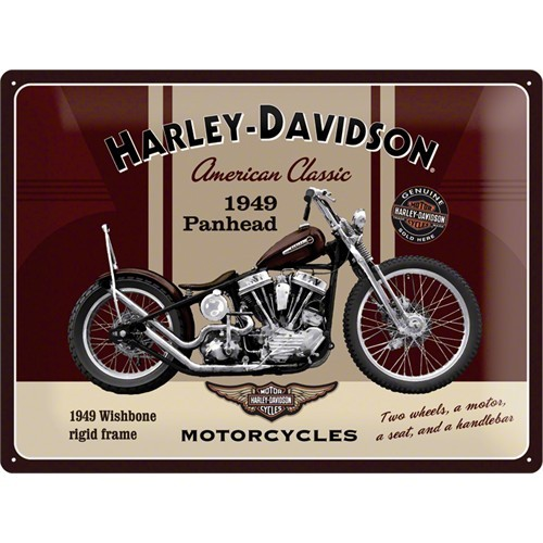 Nostalgic Art Harley Davidson Panhead Metal Kabart Malı Duvar Panosu (30 X 40 Cm)