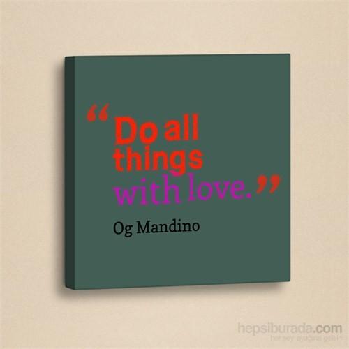 Dekorjinal Slogan Kanvas Tablo Slo024