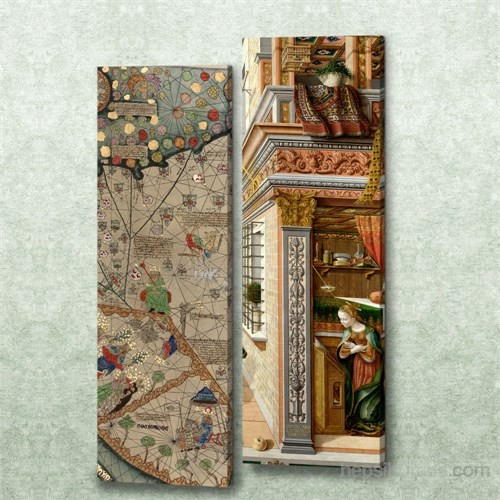 Dekorjinal 2 Li Dikdörtgen Kanvas Tablo Seti Sel008