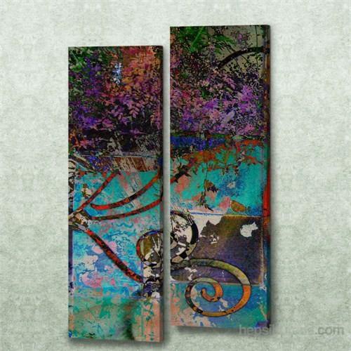 Dekorjinal 2 Li Dikdörtgen Kanvas Tablo Seti Sel055