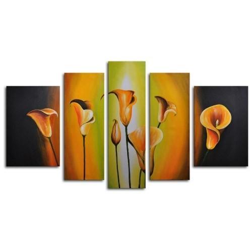 Clock Mango Multi Color Kanvas Tablo 120X80x5prc