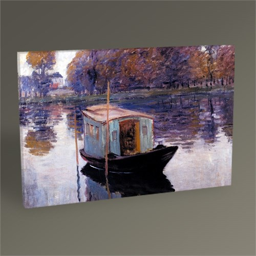 Tablo 360 Claude Monet ''Yüzen Atölye'si'' Tablo 45X30