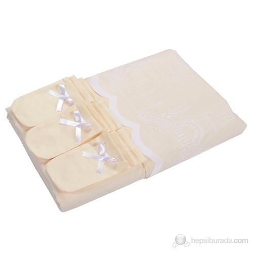 Paris Blanc-Jaune Çift Katlı Masa Örtüsü Takımı 160X250 Cm