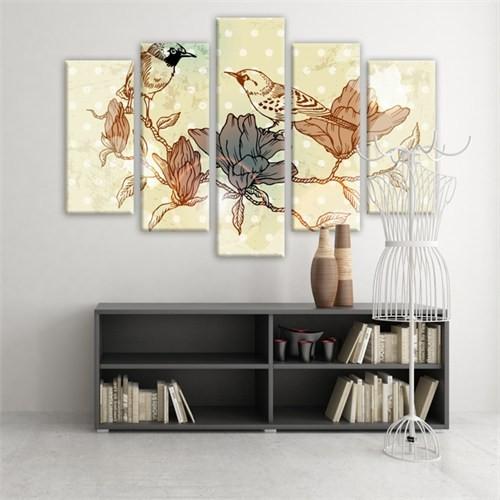 Dekoratif 5 Parçalı Kanvas Tablo-5K-Hb061015-172