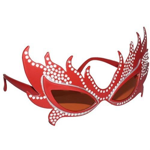 Pandoli Taşlı Tarz Parti Gözlüğü Turuncu Renk
