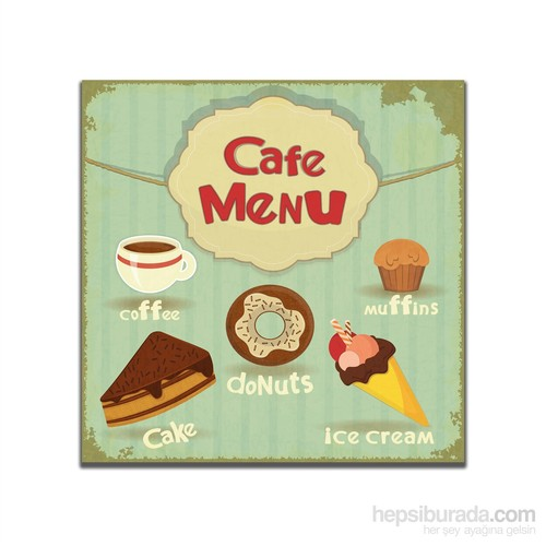 Dolce Home Retro Cafe Menu Tablo 26