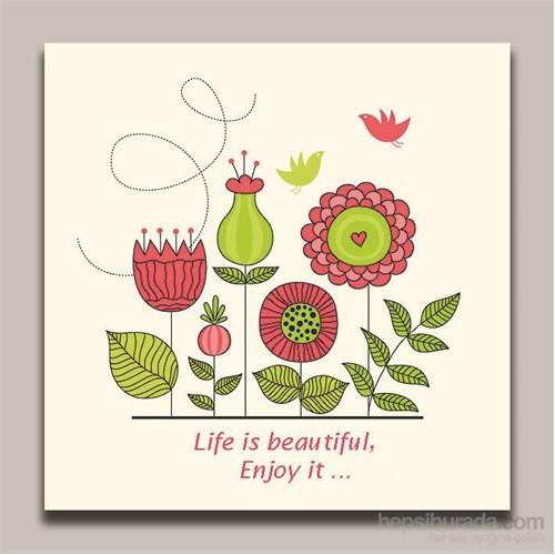 Dolce Home Dekoratif Life is Beautiful Yazılı Tablo