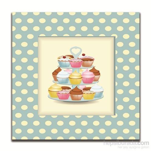 Dolce Home Dekoratif Cupcake Tablo 8