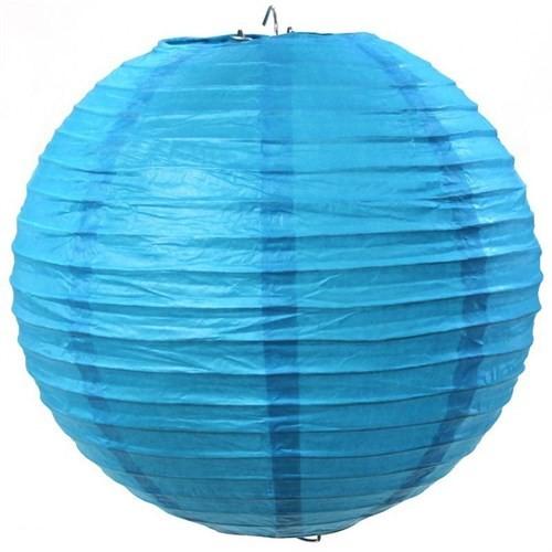 Pandoli Çin Feneri Asma Süs Mavi Renk 35 Cm