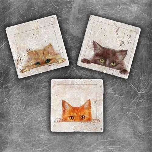 Oscar Stone Meraklı Kediler Magnet
