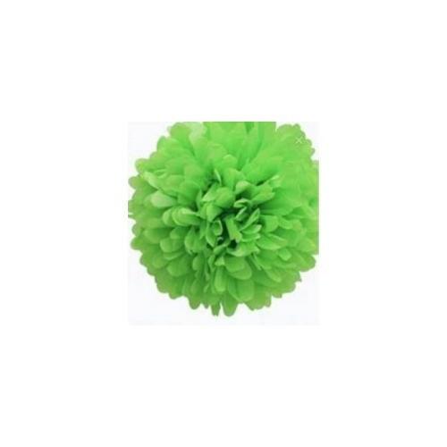 Parti Şöleni Ponpon Çiçek Süs Yeşil 1 Adet