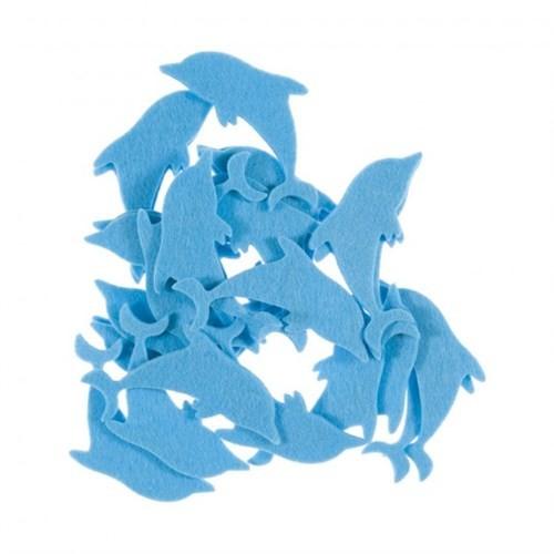 La Mia 25'Li Pastel Mavi Yunus Keçe Motifler Fs290-M41