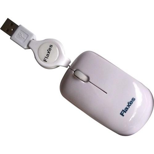 Flaxes FLX-707 RMB Usb Makaralı Mouse - Beyaz