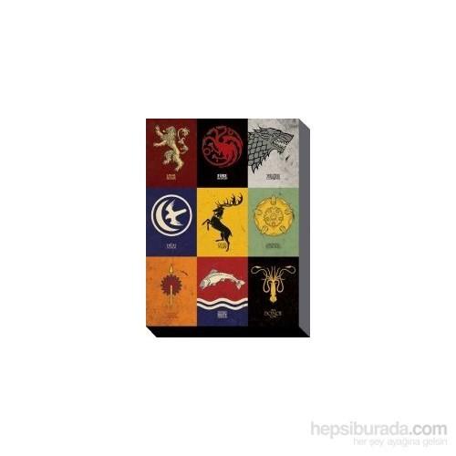 60x80 Kanvas Tablo Game Of Thrones - Sigils