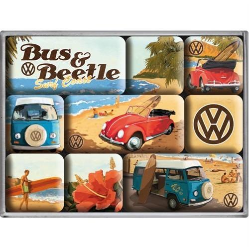 Nostalgic Art Vw Beach Magnet Set (9 Parça)