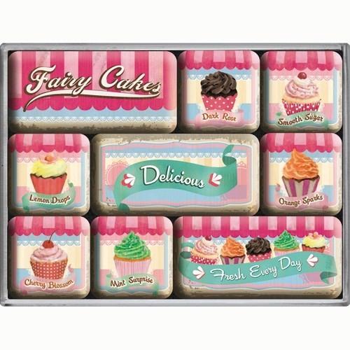 Nostalgic Art Fairy Cakes- Delicious Magnet Set (9 Parça)