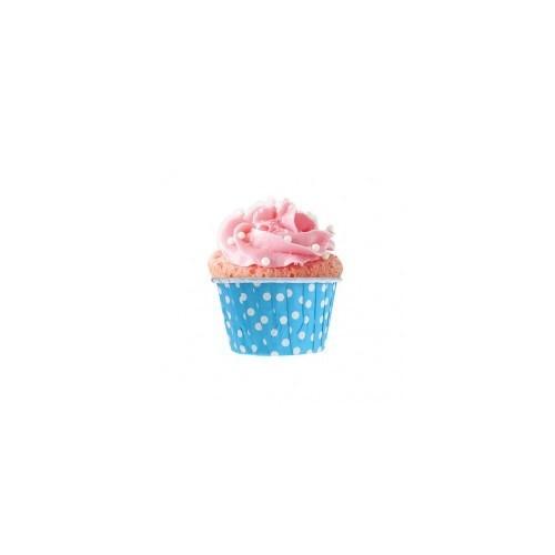 Parti Şöleni Mavi Puanlı Muffin Kek Kapsülü