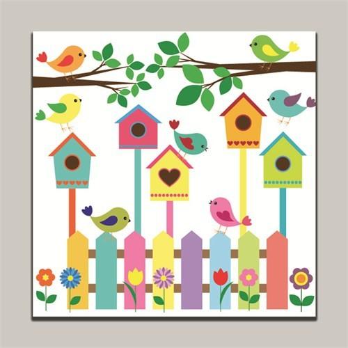 Dolce Home Kuşlar Dekoratif Tablo K20m61