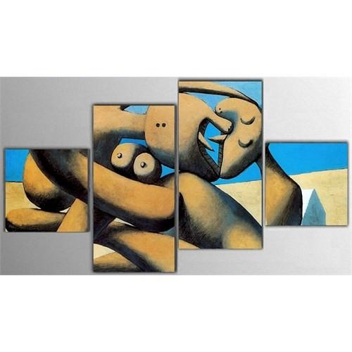 Tictac 4 Parça Kanvas Tablo - Picasso