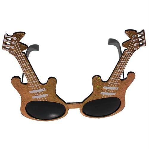 Pandoli Altın Gitar Şekilli Disko Parti Gözlüğü