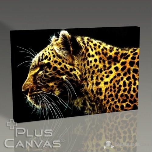 Pluscanvas - Golden Tiger Tablo