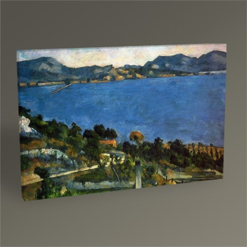 Tablo 360 Paul Cézanne The Bayof Marseille Tablo 45X30