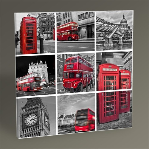Tablo 360 London Collage Tablo 30X30