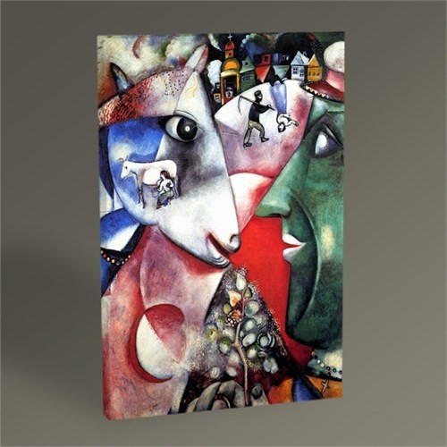 Tablo 360 Marc Chagall I And The Village 45X30