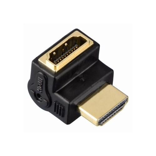Hama HDMI Fiş - Soket 90° Açılı Altın Uçlu Siyah Adaptör