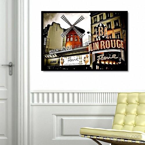 Hareketli, Kolları Dönebilen Yel Değirmeni Tablosu - Moulin Rouge