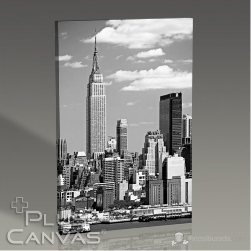Pluscanvas - New York - Empire States Building Bw Tablo