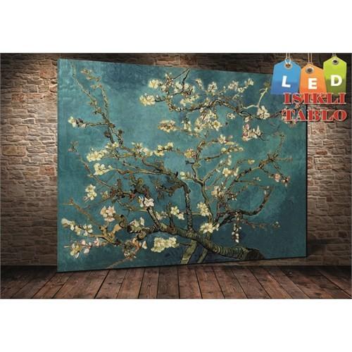 Tablo İstanbul Vincent Van Gogh Çiçekler Led Işıklı Kanvas Tablo 45 X 65 Cm