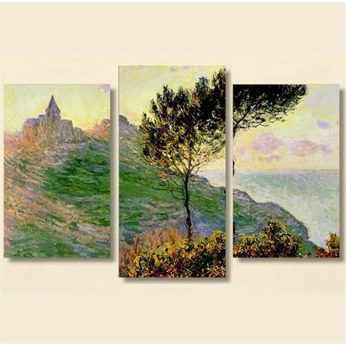 Tictac 3 Parça Kanvas Tablo - Monet