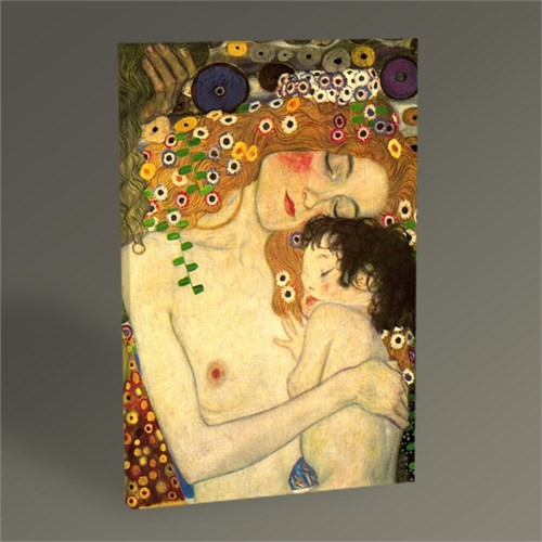 Tablo 360 Gustav Klimt Anne Ve Çocuk Tablo 45X30