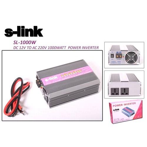 S-Link Sl-1000W 1000W Dc12v-Ac230v İnverter