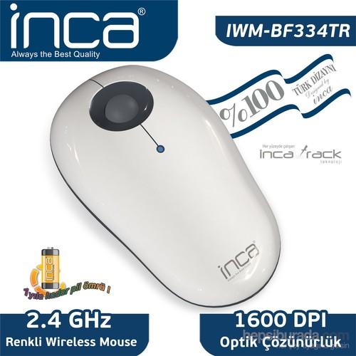 Inca Vivre IWM-BF334TR Inca -Track 1600 Dpi Wireless Nano Alıcılı Beyaz Gri Mouse