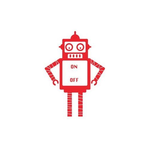 Urbangiftrobot Red S Decal 25*35Cm